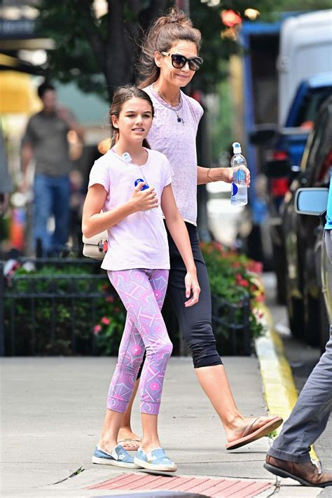 Katie Holmes and Suri Cruise Are a Sporty Pair in NYC