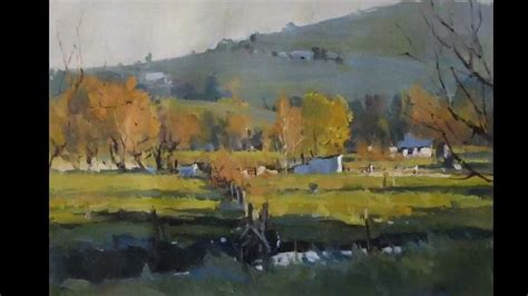 Ros Psakis - A Painting Demonstration of a Landscape - YouTube