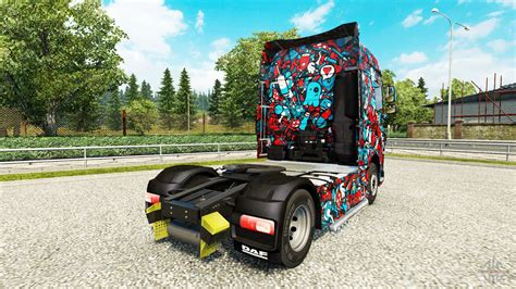 Skin Cool Pop on the truck DAF for Euro Truck Simulator 2