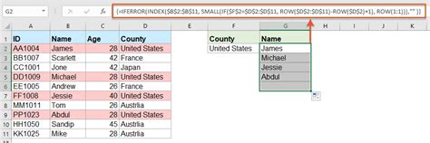 How to return multiple matching values based on one or