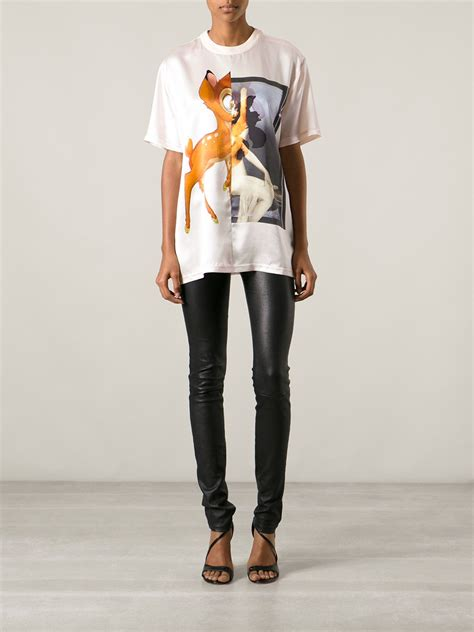 Lyst - Givenchy Bambi Tshirt in Pink