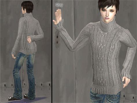 Mod The Sims - Turtle Neck Sweater -Sizz-