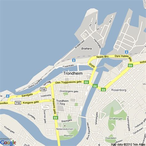 Map of Trondheim, Norway | Hotels Accommodation