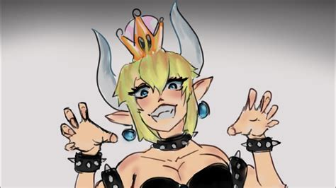 Bowsette 1 hour painting - YouTube