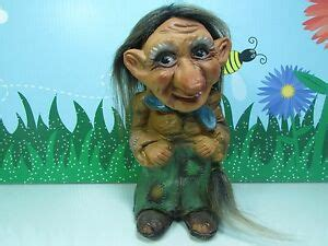 """WOMAN w/TAIL - 9"""" Krage Troll Doll - Made In Norway"""