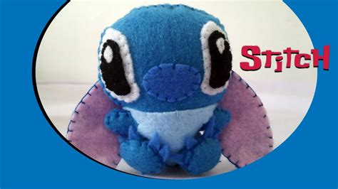 How to Make a cute Stitch plush from felt tutorial - YouTube
