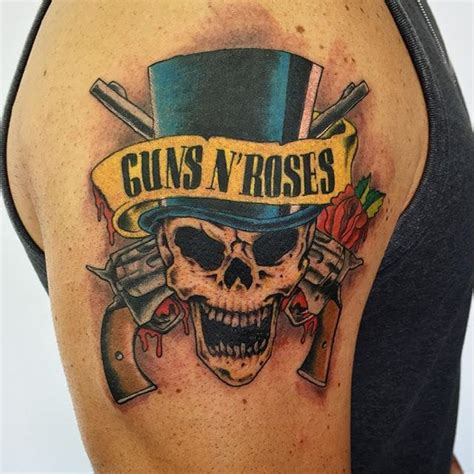 10 Guns N'Roses Tattoos For All Hard Rock Enthusiasts