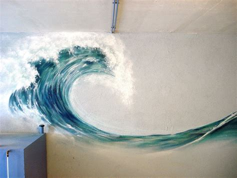 wave in 2020   Mural painting, Art, Wall murals