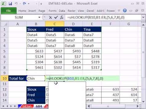 Excel Magic Trick 684: VLOOKUP 1 item & Add Values from