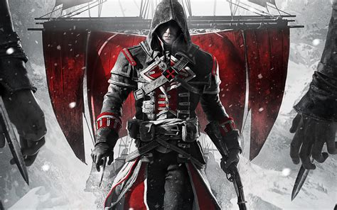 Download wallpapers Assassins Creed Rogue Remastered, 2018