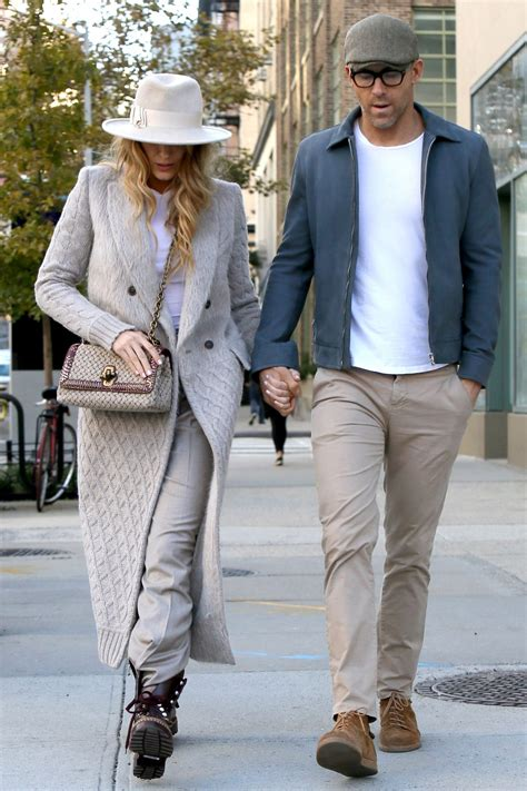 Blake Lively and Ryan Reynolds Coordinate in Shades of