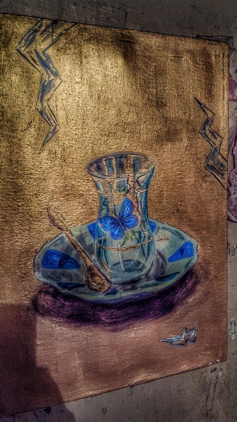 Kurdish art, from 60 glasses of tea exhibition, by Asuda