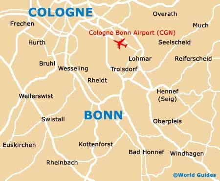 Map of Cologne Bonn Airport (CGN): Orientation and Maps