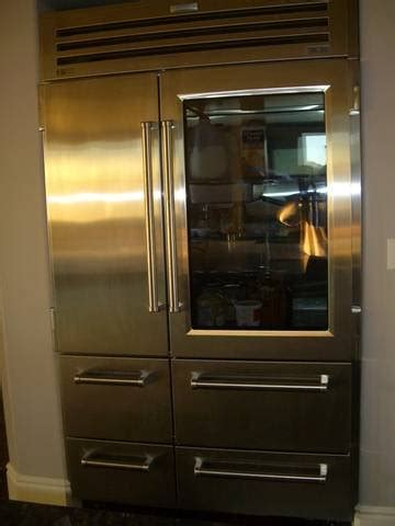 SUB ZERO GLASS DOOR 48 INCH REFRIGERATOR FOR SALE from