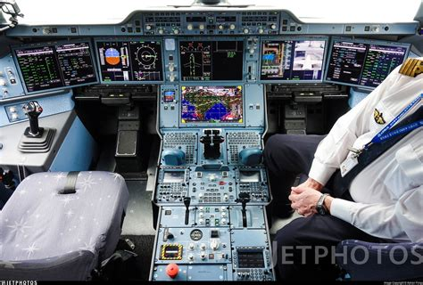"""JetPhotos on Twitter: """"The flight deck of the Airbus A350"""