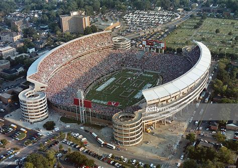 An aerial view of Bryant-Denny Stadium home of the