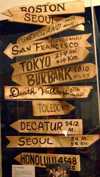 MASH-style City Directional Sign   Directional signs, Mash