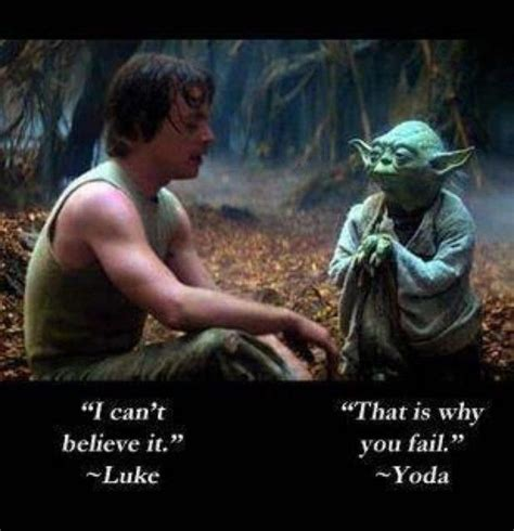 Luke Skywalker and Yoda's quote about failing | Yoda