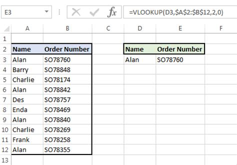 VLookup with multiple values - The JayTray Blog