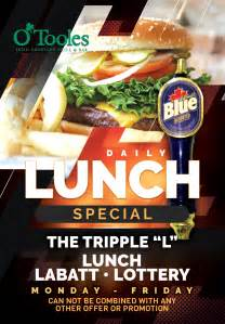 Lunch Special – O'Tooles