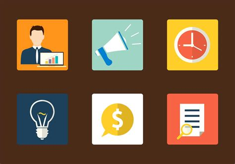 Flat Marketing Icons - Download Free Vector Art, Stock