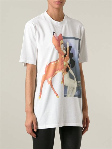 Lyst - Givenchy Bambi Print T-Shirt in White