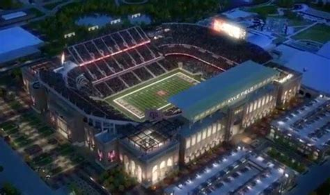 SEC football stadiums by current and future capacity