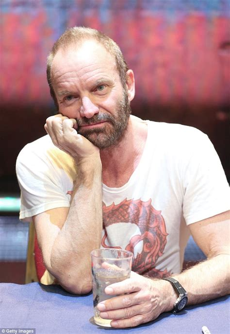Sting looks down as he promotes soundtrack to The Last