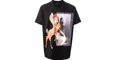 Lyst - Givenchy Bambi Printed Tshirt in Black for Men