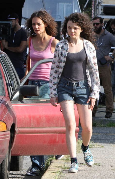 Katie Holmes in acid-wash on the set of All We Had|Lainey