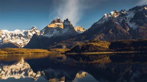 Wallpaper Lake Gray, Torres del Paine, Chile, mountains