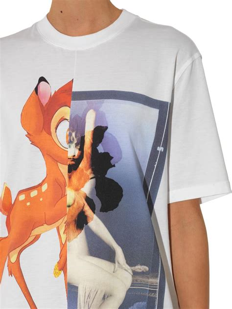 Givenchy Bambi-Print Cotton T-Shirt in White   Lyst